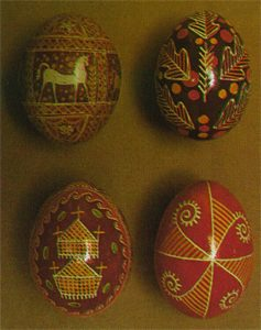 Easter eggs (Hutsul region, Pokutia, Transcarpathia)